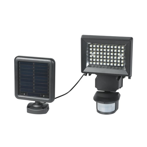 Duracell 120 Degree Solar Black Outdoor LED Motion Security Light