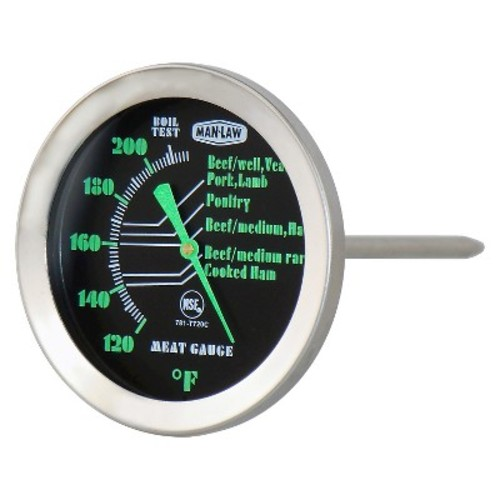 Man Law BBQ Series Meat Thermometer with Glow in the Dark Dial