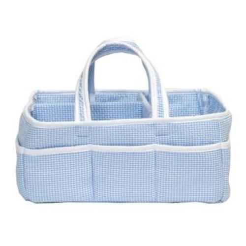 Trend Lab Blue Gingham Seersucker Storage Caddy