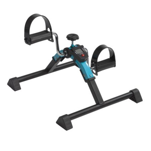 Drive Medical Folding Exercise Peddler with Digital Display, Blue