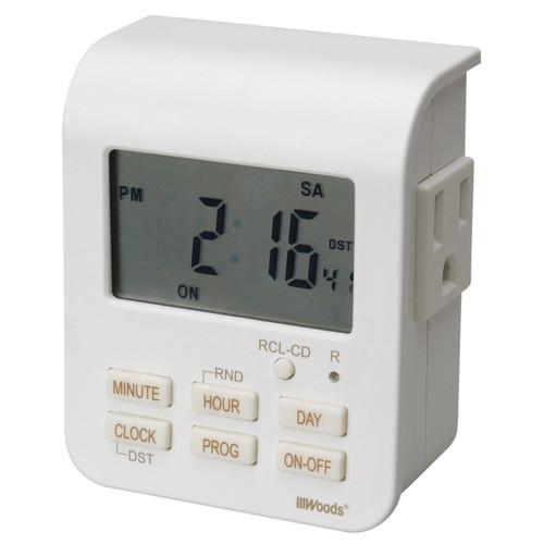 Woods 50009 White Heavy Duty Indoor Digital Timer