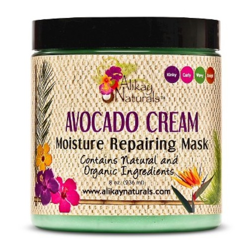 Alikay naturals Avocado Cream Moisturizing Repair Mask - 8oz