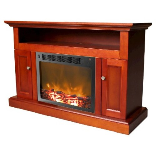 Cambridge CAM5021-2CHR Sorrento Fireplace Mantel with Electronic Fireplace Insert, Cherry