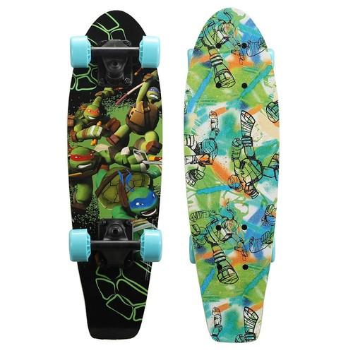 Playwheels Teenage Mutant Ninja Turtles 21 in. Wood Cruiser Skateboard in Turtle Power Graphic
