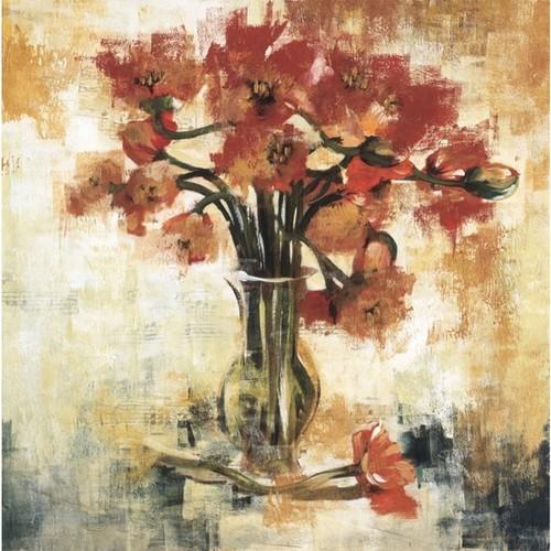 Liz Jardine 'Symphony Of Poppies' 35 x 35 Gallery Wrap Canvas