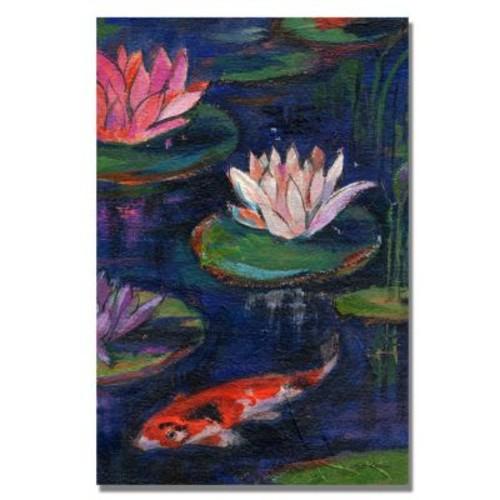 Trademark Fine Art 'The Lily Pond' 30
