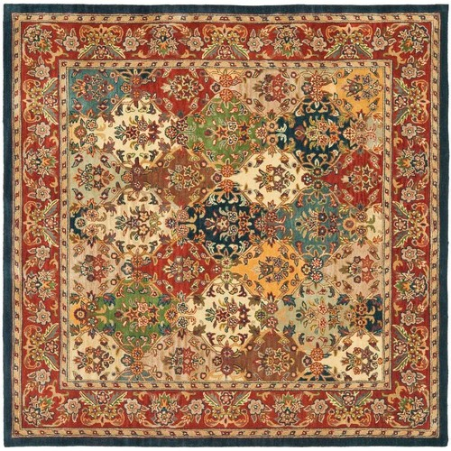 Safavieh Heritage Multi/Burgundy 10 ft. x 10 ft. Square Area Rug