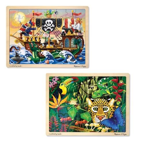 Melissa & Doug 2-pk. Pirate & Jungle Puzzles