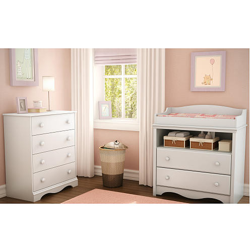South Shore Heavenly Collection Changing Table - Pure White