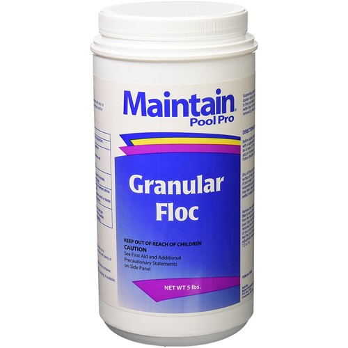 Maintain 2405M Pool Pro Granular Floc, 5-Pound : Garden & Outdoor [1-Pack]