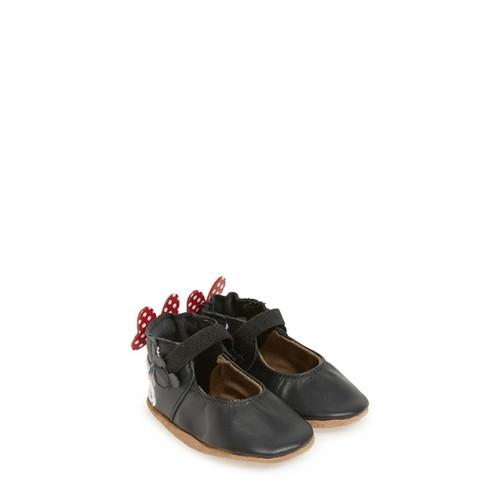 'Disney Minnie Mouse' Mary Jane Crib Shoe (Baby & Walker)