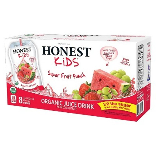 Honest Kids Organic Juice, Superfruit Punch, 6.75 Fl Oz, 8 Ct