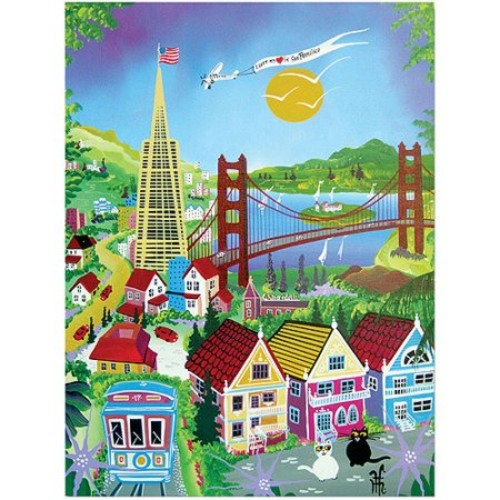 San Francisco by Herbert Hofer, 18x24-Inch Canvas Wall Art