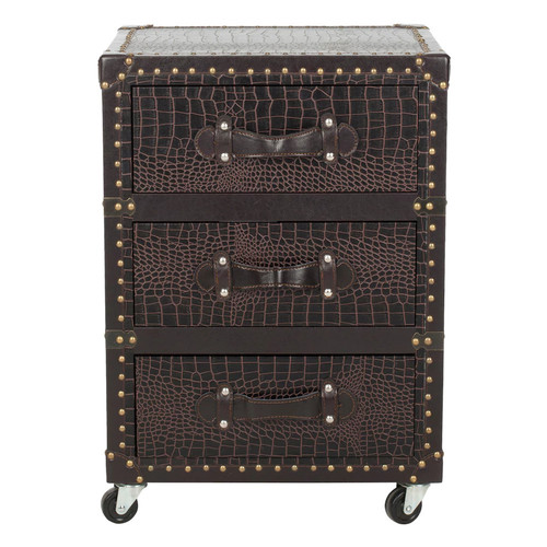 Safavieh Lloyd 3-Drawer Rolling Storage Chest