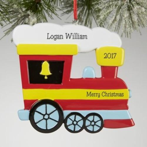 Choo Choo Train Personalized Christmas Ornament