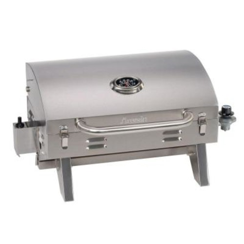 Smoke Hollow Tabletop Portable Propane Gas Grill in Stainless Steel