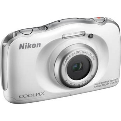 COOLPIX S33 Digital Camera (White, Refurbished)