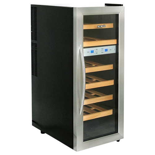 Air - 21-Bottle Wine Cooler - Black/Stainless Steel
