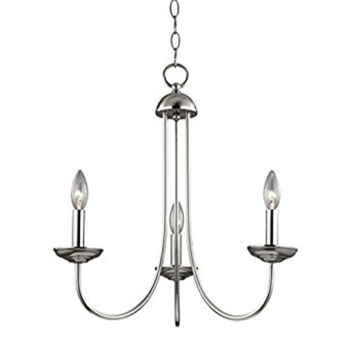 Thomas Lighting Williamsport 3-light Chandelier, Brushed Nickel [Brushed Nickel]
