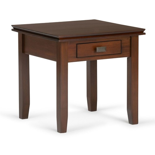 Simpli Home Artisan Medium Auburn Brown End Table