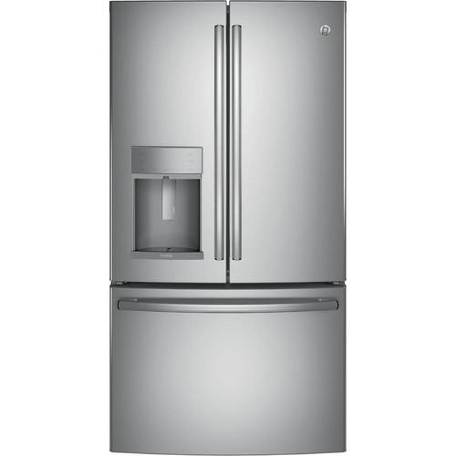 GE Profile 36 in. W 27.8 cu. ft. French Door Refrigerator with Door-in-Door in Stainless Steel, ENERGY STAR