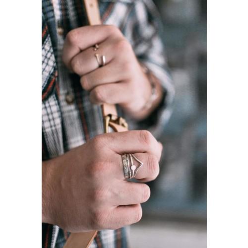 Sable + Company Chevron Ring