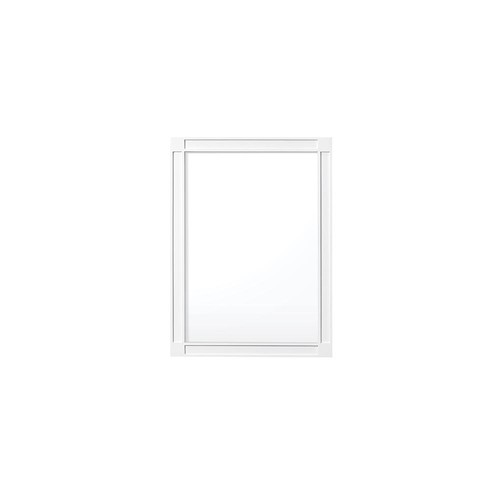 Home Decorators Collection Dacosti 30 in. x 22 in. Framed Wall Mirror in White