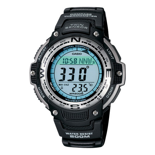 Casio - Men's Digital Compass Twin Sensor Sport Watch - Black