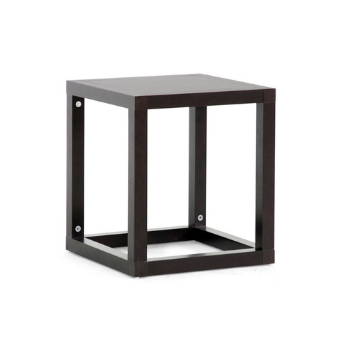 Baxton Studio Hallis Brown Modern Accent Table and Nightstand