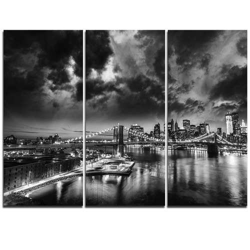 Amazing Night in New York City - Cityscape Canvas print