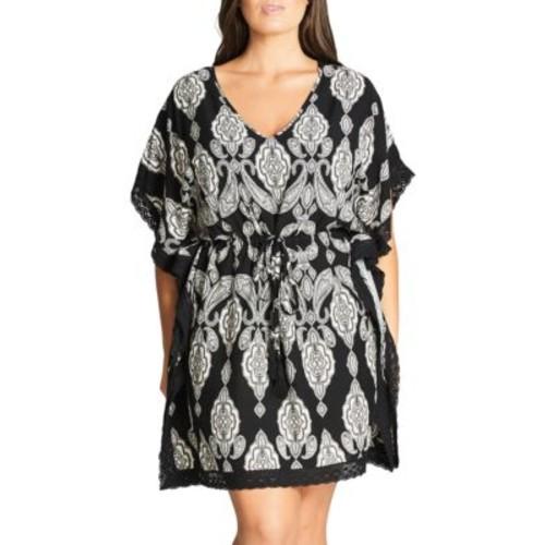 Plus Printed Kimono Dress