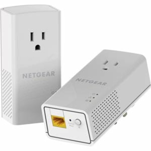 Netgear Powerline 1200, 1 Port - 1200 Mbps, 1 Gigabit Port, Extra Outlet
