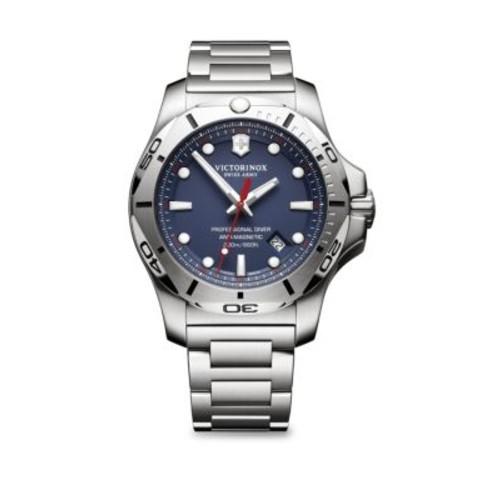 Inox Pro Diver Blue Dial Stainless Steel Bracelet Watch