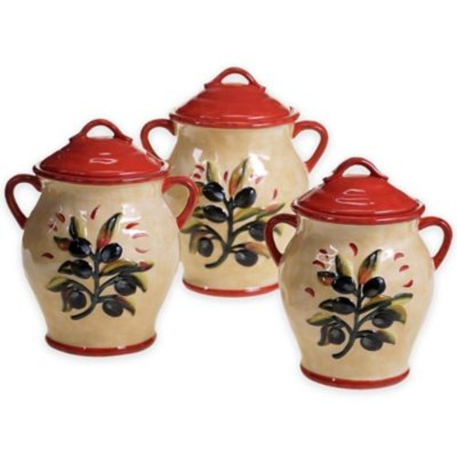Certified International Umbria 3-Piece Canister Set