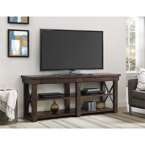 Dorel Home Furnishings Wildwood Mahogany Wood Veneer 65 TV Stand
