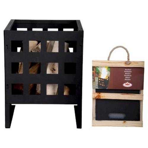Esschert Design Square Fire Basket - Black