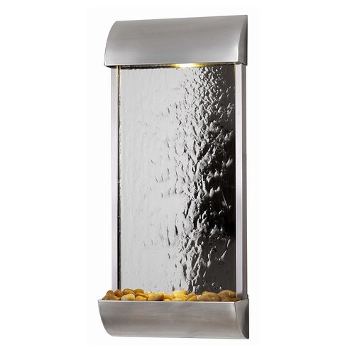 Kenroy Home Waterville Stainless Steelwith Mirrored Face Indoor/Outdoor Wall Fountain