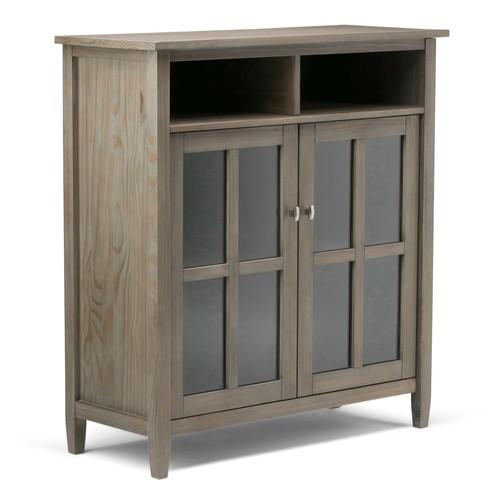 Simpli Home Warm Shaker Storage Cabinet