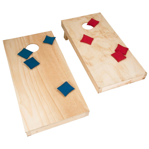 Hey! Play! Do-It-Yourself Regulation-Sized Cornhole Boards & Bags Set