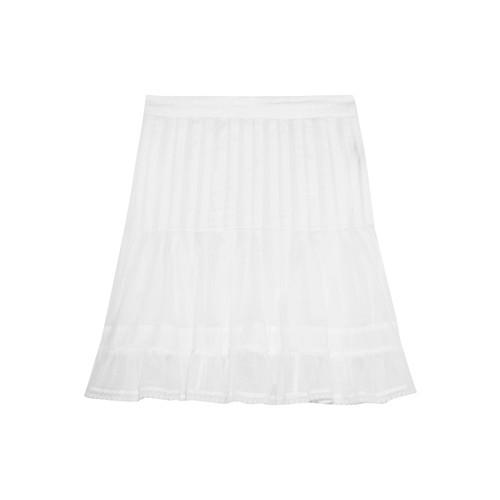 Noly pintucked cotton-voile mini skirt