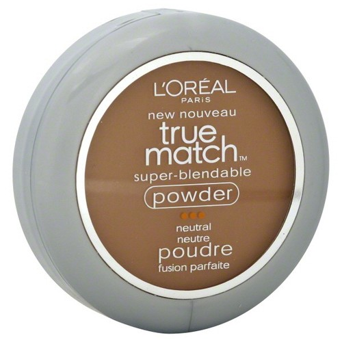 L'Oreal True Match Super-Blendable Powder, Neutral, Cappuccino N8, 0.33 oz (9.5 g)