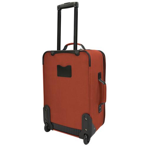 U.S. Traveler 2-Piece Carry-On Rolling Upright & Duffel Bag Luggage Set Salmon