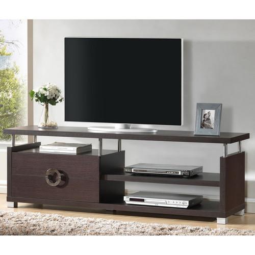 Baxton Studio Burdin Dark Brown Modern TV Stand