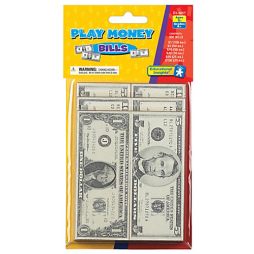 Educational Insights Play Money Bills, 4 1/2