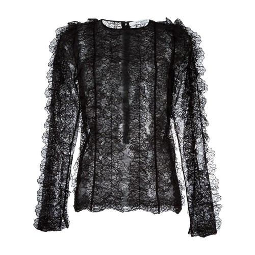 GIVENCHY Ruffled Lace Long Sleeve Top