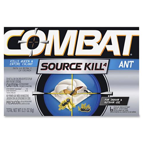 Dial Combat Bait Stations Ant Killer - Kills Ants - 0.21 oz (0.01 lb) - Silver, Black
