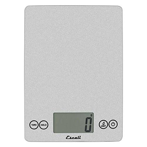 Escali Arti 15 Pound, 7 Kilogram Digital Scale - Shiny Silver [Shiny Silver]