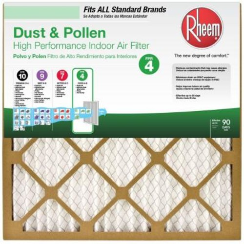 Rheem 14 in. x 25 in. x 1 in. Standard Pleated FPR 4 Air Filter (Case of 12)