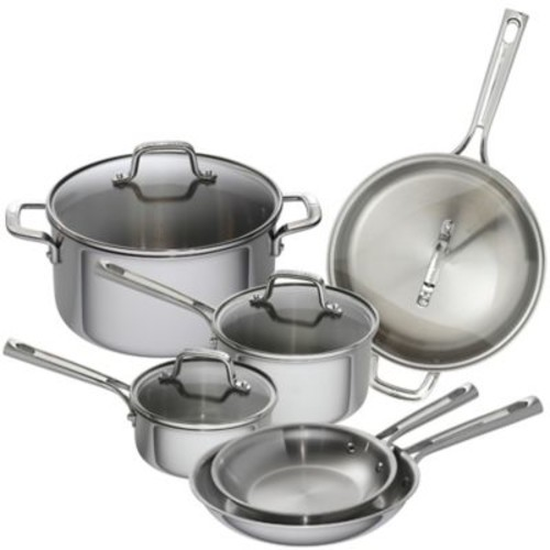 Emeril 10-Piece Tri-Ply Stainless Steel Cookware Set