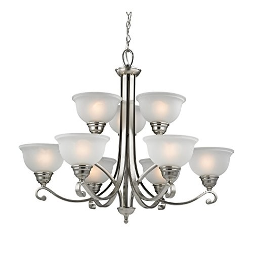 Thomas Lighting Hamilton 9-Light Chandelier, Brushed Nickel [Brushed Nickel]
